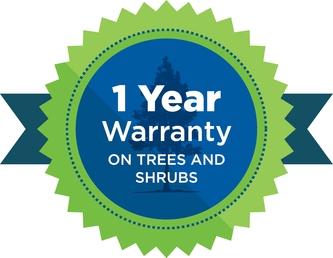 1-year warranty on trees and shrubs badge